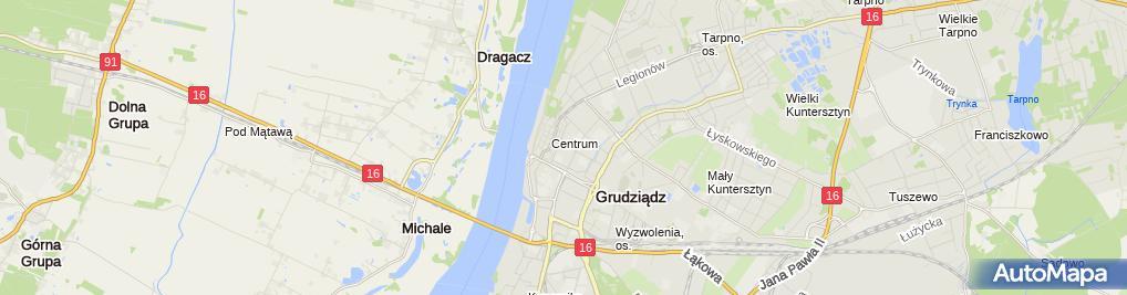 Zdjęcie satelitarne Kantor wymiany walut Extrakantor.pl Grudziądz