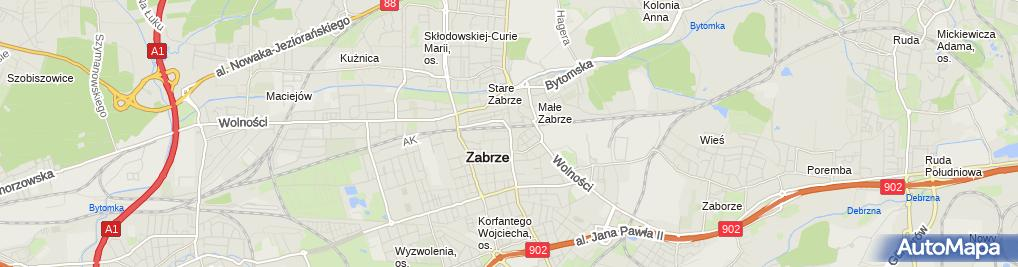 Zdjęcie satelitarne Kantor Wymiany Walut Marek Borończyk