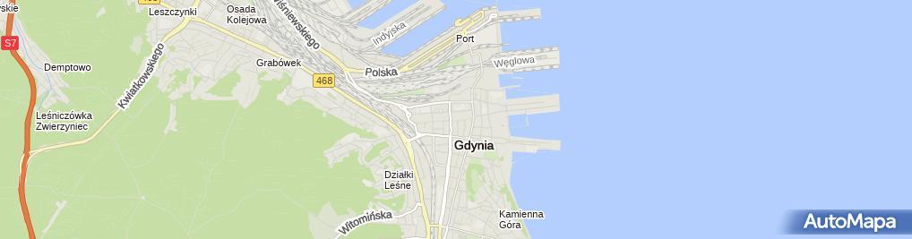 Zdjęcie satelitarne Kantor Wymiany Walut Mirosław Malczewski