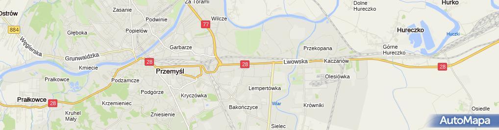 Zdjęcie satelitarne Kantor Wymiany Walut Przemysław Siekaniec