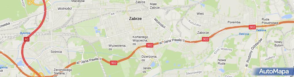 Zdjęcie satelitarne Nowak Janina Kantor Wymiany Walut