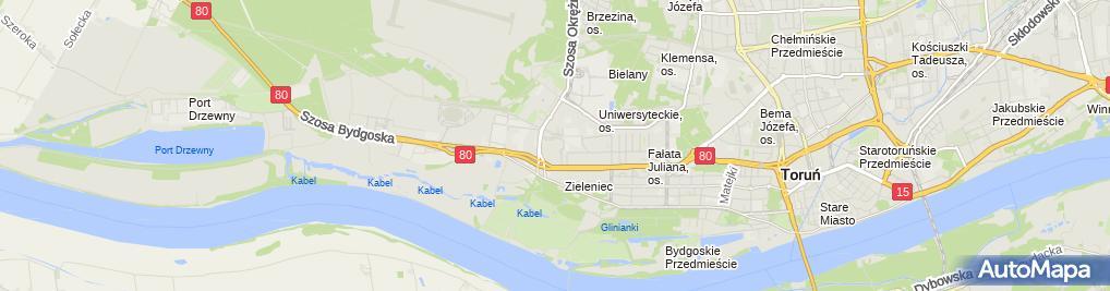 Zdjęcie satelitarne OMPEX (CH Toruń Plaza)