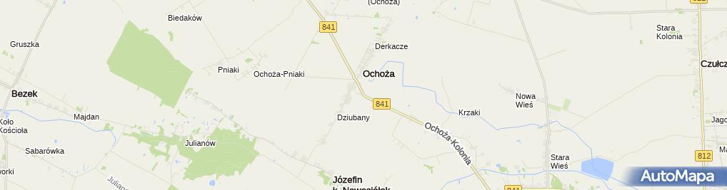 Zdjęcie satelitarne Drewniany krzyż