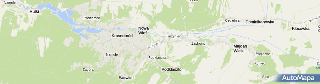 Zdjęcie satelitarne Droga krzyżowa przy strunieniu ze źródełka