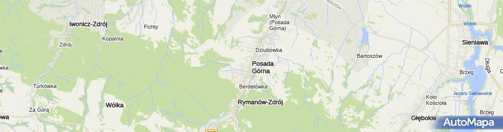 Zdjęcie satelitarne Kamienna kapliczka
