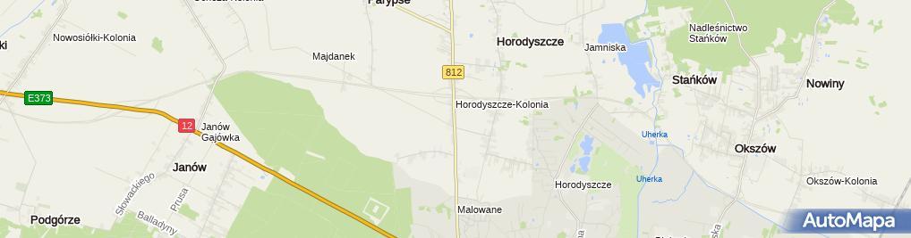 Zdjęcie satelitarne Metalowy krzyż