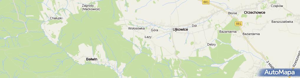 Zdjęcie satelitarne Murowana kapliczka Maryjna