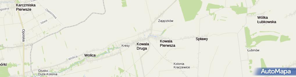 Zdjęcie satelitarne Krzyż z kamienia