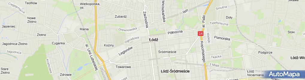 Zdjęcie satelitarne Gospoda Pod Kurantem