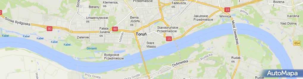 Zdjęcie satelitarne Karczma Gęsia Szyja