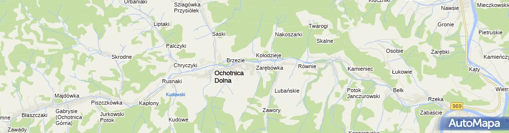 Zdjęcie satelitarne Karczma Gorce
