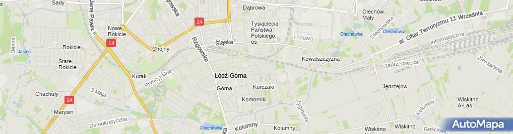 Zdjęcie satelitarne Zajazd Czarny Las