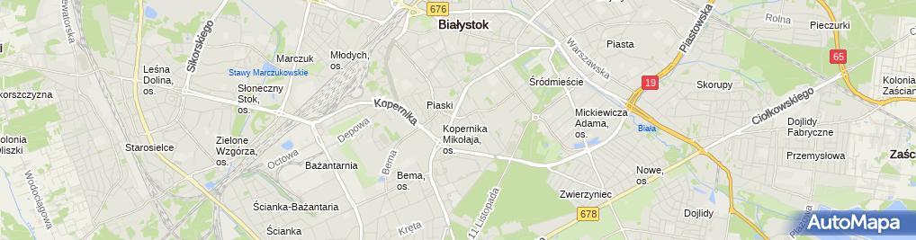 Zdjęcie satelitarne Kafejeto