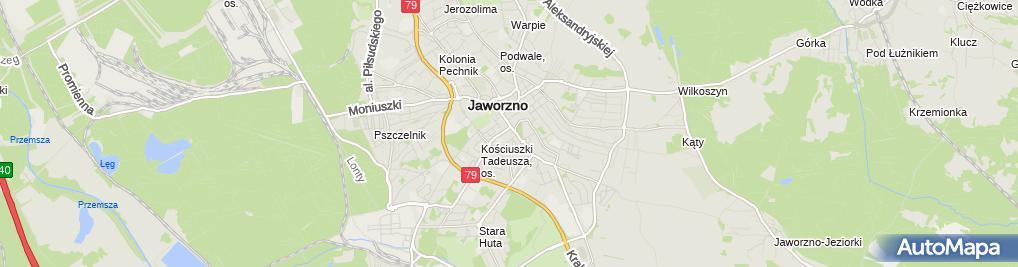 Zdjęcie satelitarne Kawiarnia Not Agata Jasicka