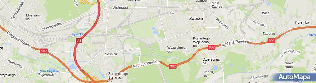 Zdjęcie satelitarne Kia - Dealer, Serwis