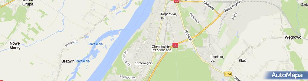 Zdjęcie satelitarne Kiosk Uliczny Art Spoż i Przemysł