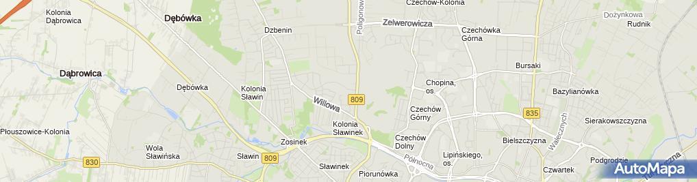 Zdjęcie satelitarne EkoSan Instal