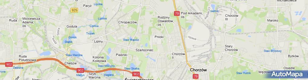 Zdjęcie satelitarne Klima Serwis Katowice Janik Zbigniew