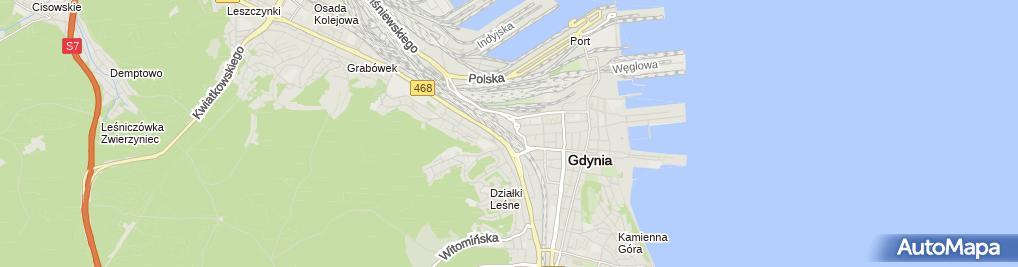 Zdjęcie satelitarne Gdynia Główna - SKM, PKM