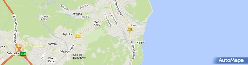 Zdjęcie satelitarne Gdynia Orłowo