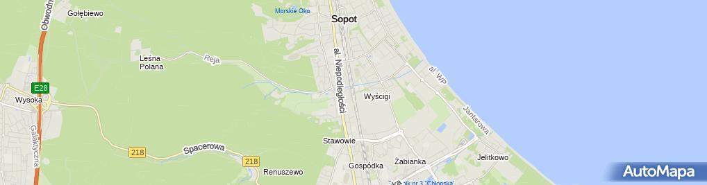 Zdjęcie satelitarne Sopot Wyścigi