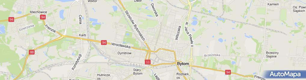 Zdjęcie satelitarne Komenda Miejska Policji w Bytomiu
