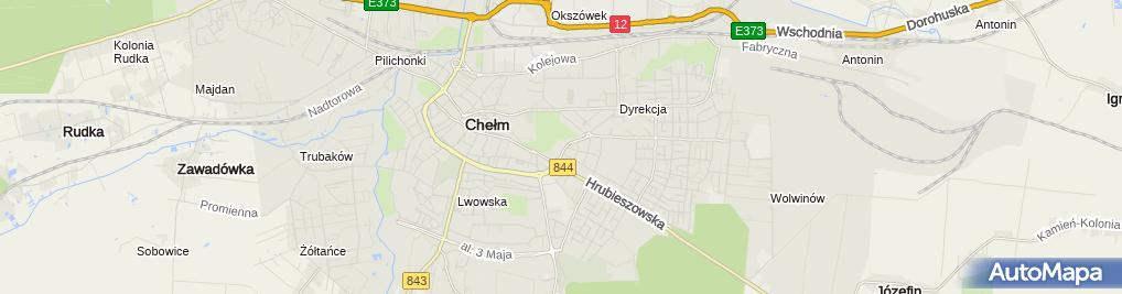 Zdjęcie satelitarne Komenda Miejska Policji w Chełmie