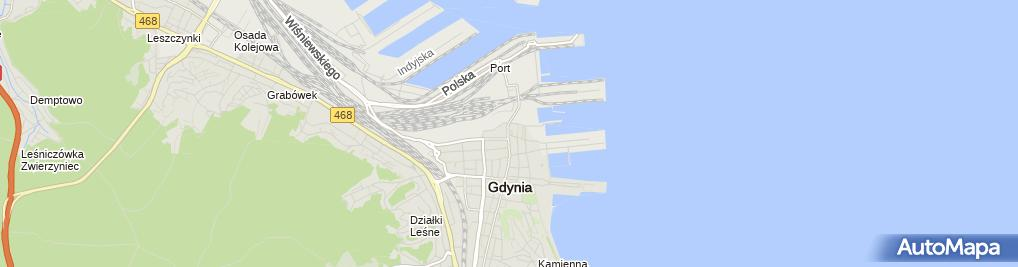 Zdjęcie satelitarne Komenda Miejska Policji w Gdyni