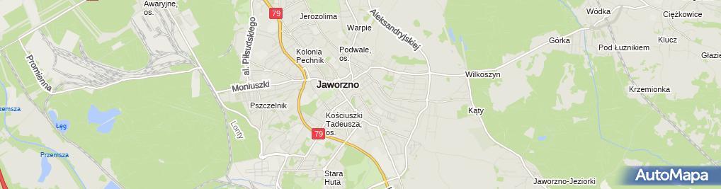 Zdjęcie satelitarne Komenda Miejska Policji w Jaworznie