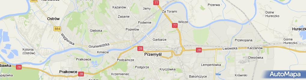 Zdjęcie satelitarne Komenda Miejska Policji w Przemyślu