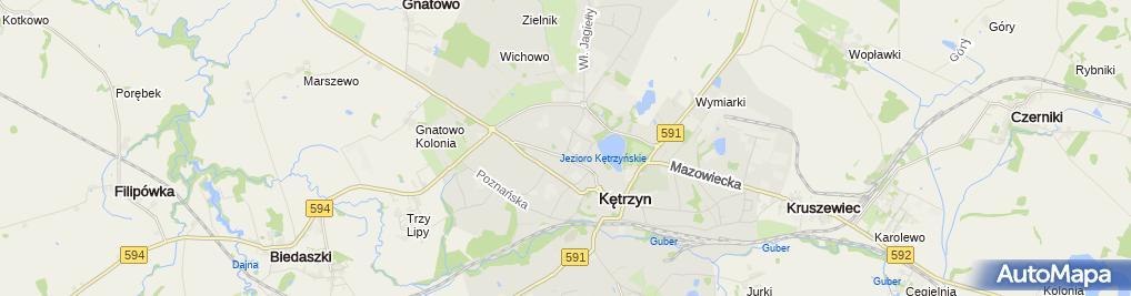 Zdjęcie satelitarne Komenda Powiatowa Policji w Kętrzynie