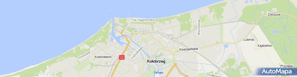 Zdjęcie satelitarne Komenda Powiatowa Policji w Kołobrzegu