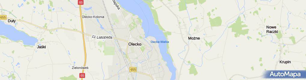 Zdjęcie satelitarne Komenda Powiatowa Policji w Olecku