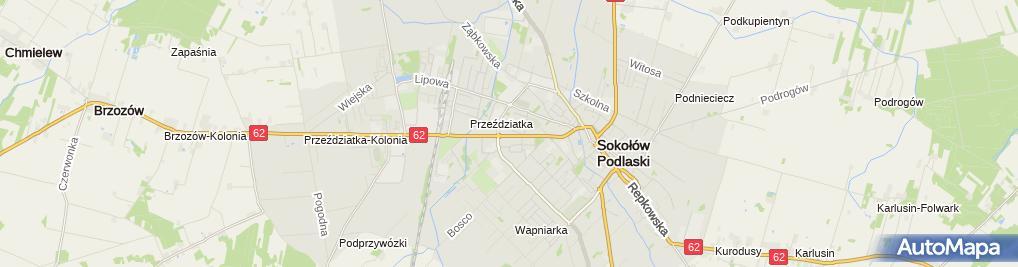 Zdjęcie satelitarne Komenda Powiatowa Policji w Sokołowie Podlaskim