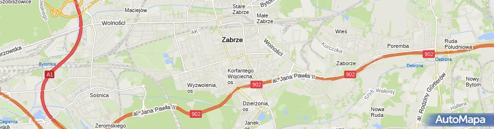 Zdjęcie satelitarne Komisariat Policji I w Zabrzu
