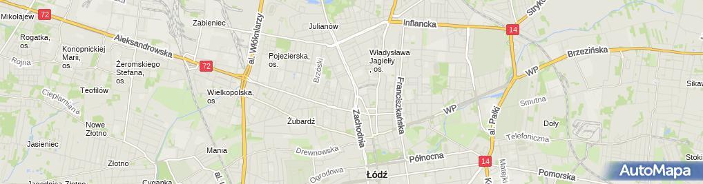 Zdjęcie satelitarne Komisariat Policji II w Łodzi