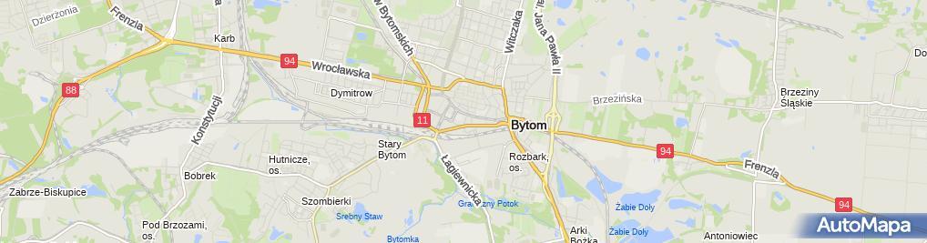 Zdjęcie satelitarne Komisariat Policji III w Bytomiu