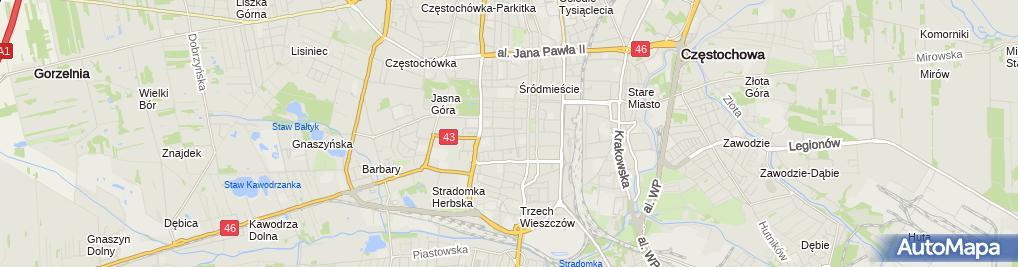 Zdjęcie satelitarne Komisariat Policji IV w Częstochowie