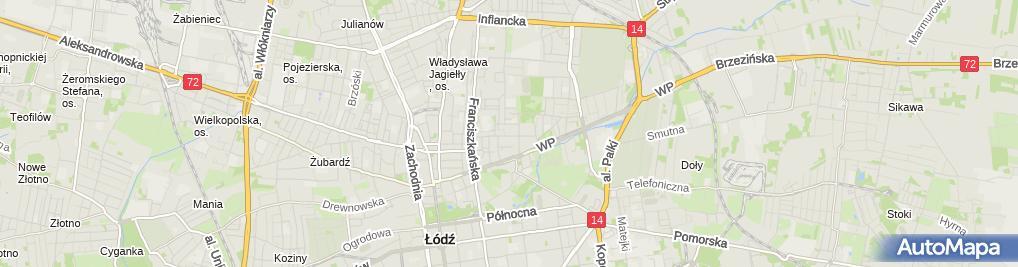 Zdjęcie satelitarne Komisariat Policji V w Łodzi