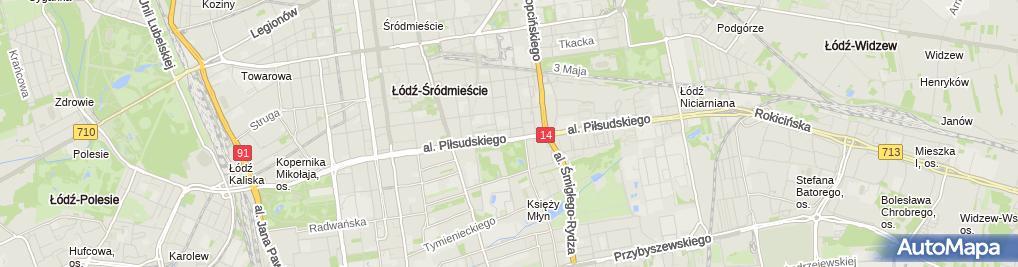 Zdjęcie satelitarne Komisariat Policji VI w Łodzi