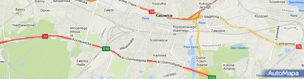 Zdjęcie satelitarne Komornik Sądowy Katowice Łukasz Zyga | Kancelaria Komornicza
