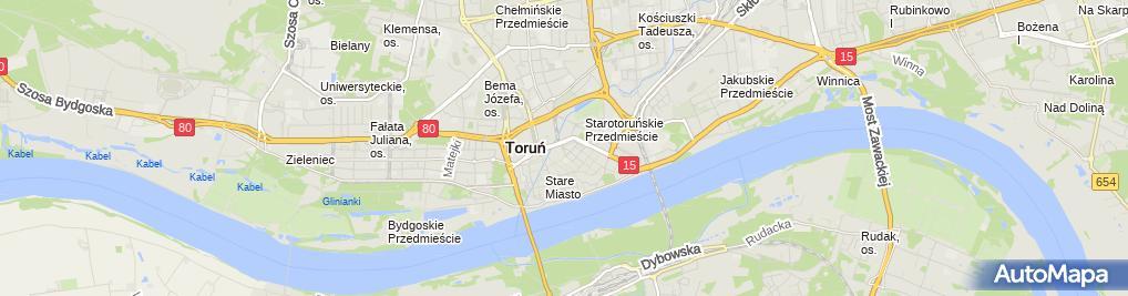 Zdjęcie satelitarne Komornik Sądowy przy Sądzie Rejonowym Marek Gajda