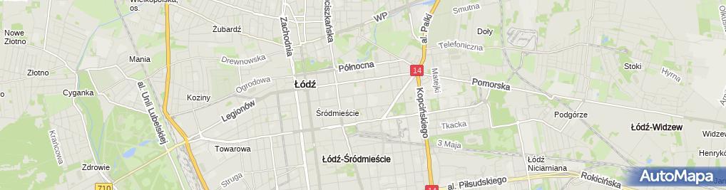 Zdjęcie satelitarne Komornik Sądowy przy SR dla Łodzi–Śródmieścia Sylwia Kacprzak