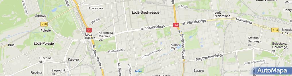 Zdjęcie satelitarne Komornik Sądowy przy SR dla Łodzi-Śródmieścia Mariusz Dobiesz