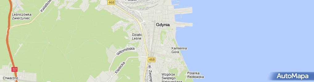 Zdjęcie satelitarne Komornik Sądowy przy SR w Gdyni Bartosz Bociąga