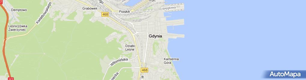 Zdjęcie satelitarne Komornik Sądowy przy SR w Gdyni Iwona Miotk