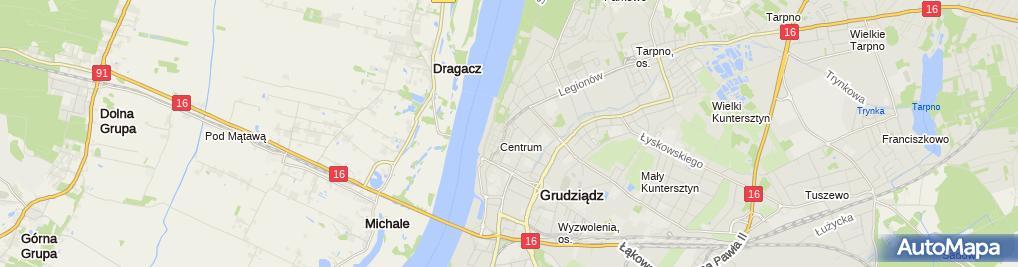 Zdjęcie satelitarne Komornik Sądowy przy SR w Grudziądzu Alicja Sokołowska