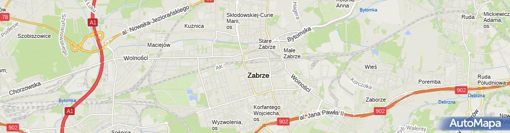 Zdjęcie satelitarne Komornik Sądowy przy SR w Zabrzu Zbigniew Rudlicki