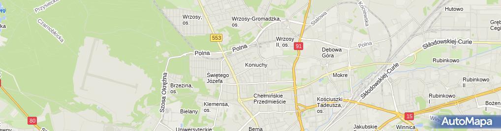 Zdjęcie satelitarne Vangelis Komputery, CEWE, GLS, Kain