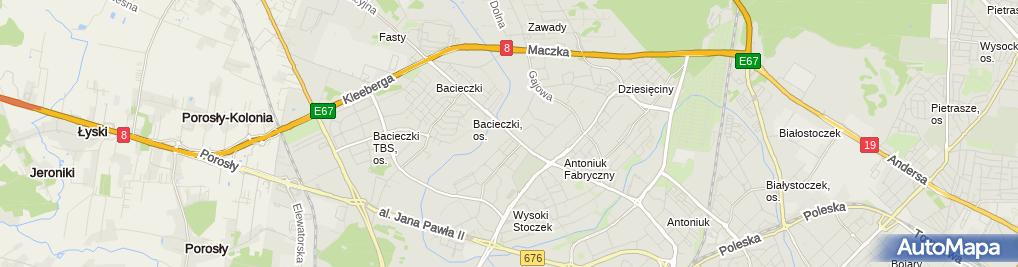 Zdjęcie satelitarne Suszarka